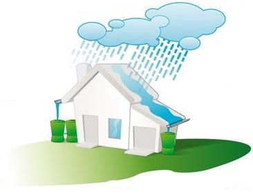 Shéma d'illustration du cycle de récupération des eaux pluviales